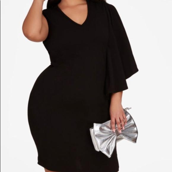a5885fec1a311 Ashley Stewart Black Plus Size Party Dress